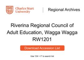 Riverina Regional Council of Adult Education, Wagga Wagga