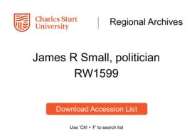 James R. Small, politician