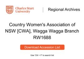 Country Women's Association of NSW [CWA], Wagga Wagga Branch