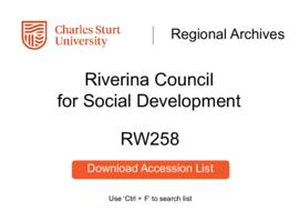 Riverina Council for Social Development, Wagga Wagga