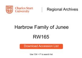 Harbrow Family of Old Junee