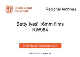 Betty Ives' 16mm films