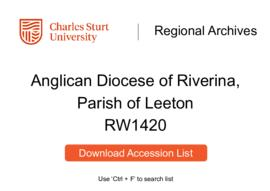 Anglican Diocese of Riverina, Parish of Leeton