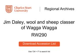 Jim Daley, wool and sheep classer of Wagga Wagga