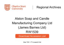 Alston Soap and Candle Manufacturing Company Ltd (James Barnes Ltd)