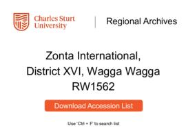 Zonta International, District XVI, Wagga Wagga