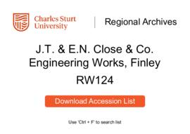JT & EN Close and Co. Engineering Works, Finley