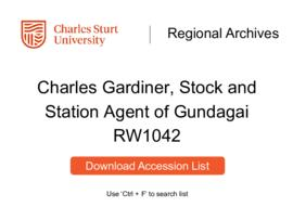 Charles Gardiner, Stock and Station Agent of Gundagai